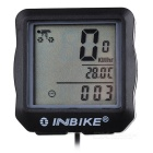 INBIKE 14-Function Bike Odometer Speedmeter w/ Green Backlit - Black