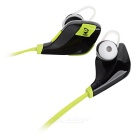 S-What QY9 Bluetooth V4.1 In-Ear Earphones w/ Mic - Black + Green