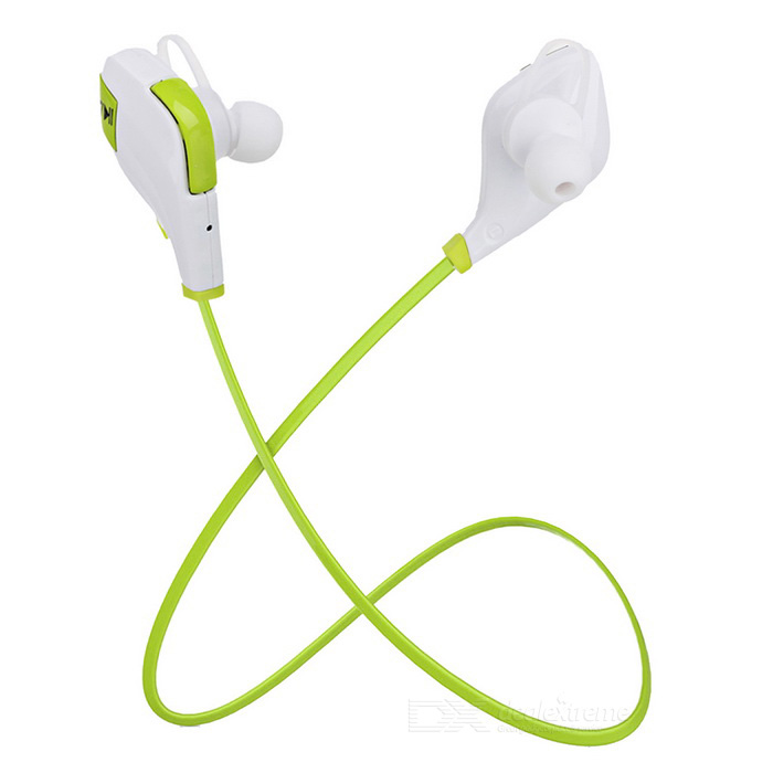 S-What Bluetooth V4.1 In-Ear Earphones w/ Mic - White + Green