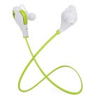S-What QY9 Bluetooth V4.1 In-Ear Earphones w/ Mic - White + Green