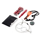 All-in-1 Outdoor Emergency SOS Gear Survival Tool Kit Iron Box - Red