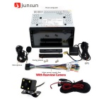 Junsun 2 DIN Car DVD + GPS Navigator + Rear View Camera - Black