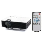 UC46 Mini Digital LCD 1080P HD Wi-Fi Projector w/ HDMI - White + Black