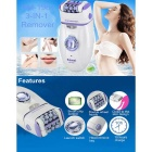 Fashion Style 3-in-1 Body Hair Remover Electric Callus Remover - White