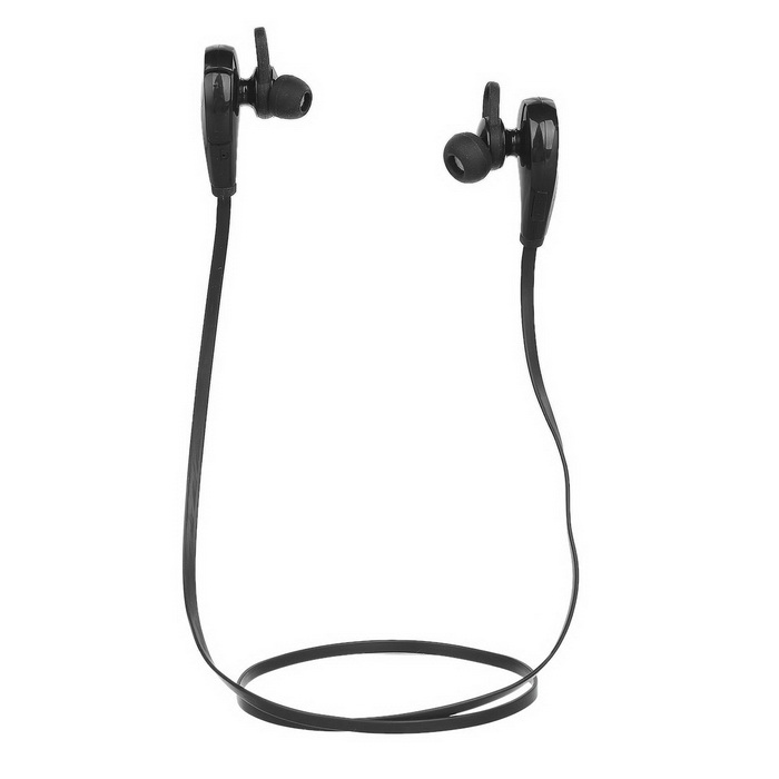 Bluetooth 4.1 Ear-Hook Sports Earphones w/ Mic. - Black