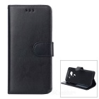 PU Leather Flip-Open Case with Card Slot for LG G5 - Black
