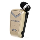 Fineblue Clip-on In-ear Bluetooth Earphone w/ Retractable Cable - Gold