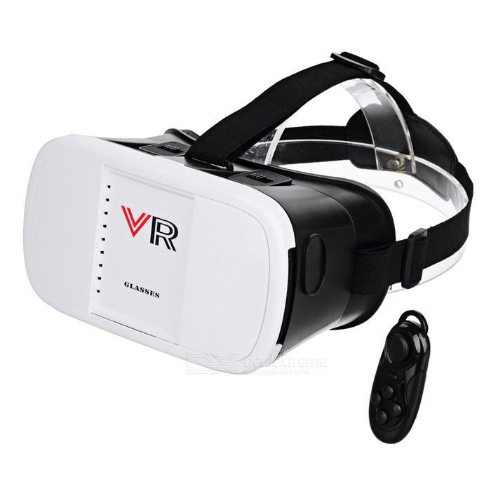 "Virtual Reality 3D Glasses + Bluetooth Controller for 3.5~6"" Phones"