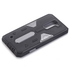 TPU + PC Back Case for LG K7 - Black + Gray