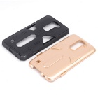 TPU + PC Back Case for LG K7 - Black + Golden