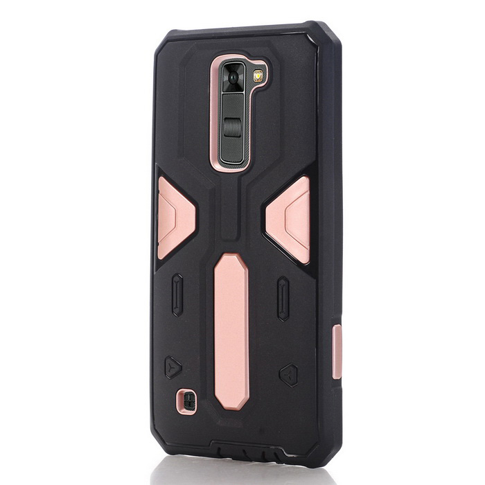 TPU + PC-bakveske til LG K7 - Svart + Rose Gold