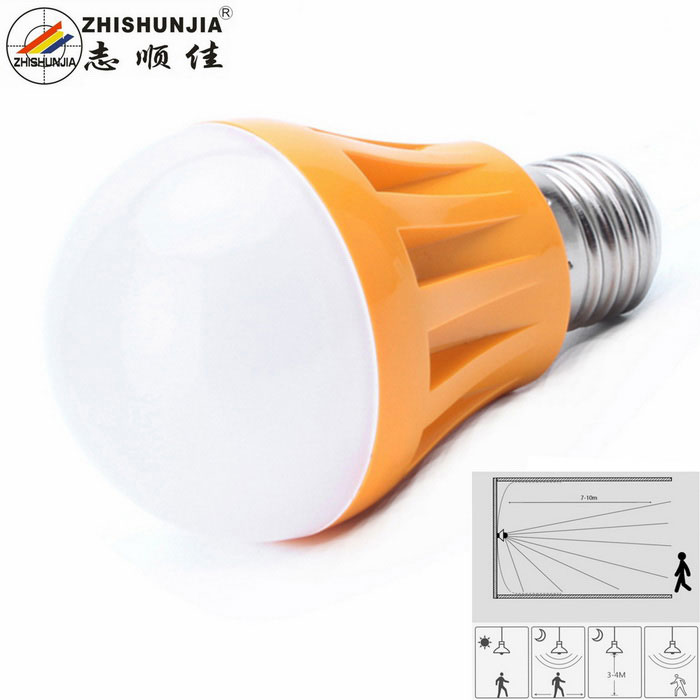 Zhishunjia E27 5W LED Acousto-Optic Sensor Neutral White Corridor Lamp