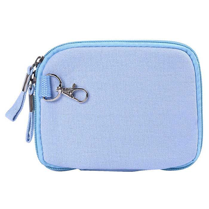 "Multifunctional Canvas Storage Bag for 8"" Tablet PC + More - Sky Blue"