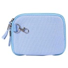 """Multifunctional Canvas Storage Bag for 8"""" Tablet PC + More -Sky Blue"""