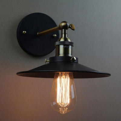 YouOKLight YK2403 Industrial Retro E27 Wall Lamp Holder - Black+Bronze