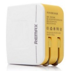 REMAX RMT6188 US Plugss 2-USB Charge Power Adapter - White