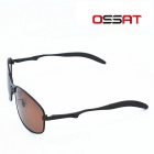 OSSAT JS-0223 Polarized Driving Glasses -Sand Color Frame + Tawny Lens