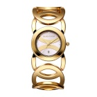 JIANGYUYAN 380801 Hollow Bangle Wristwatch w/ Calendar - Gold + White