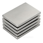 60*40*5mm Rectangular Rare Earth NdFeB Magnet -Silver (5 PCS)