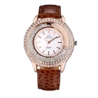 Daily Water Resistant Rhinestones Studded Flowing Beads Decorative Fashion Wristwatch (1 * S377)