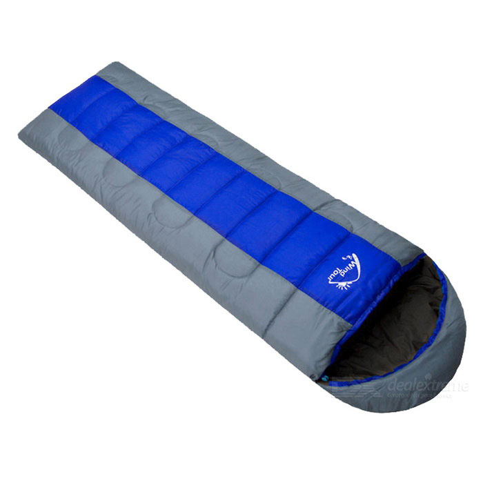 Wind Tour Envelope Shield Outdoor Sleeping Bag - Cinza + Azul