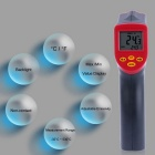 "2.5"" LCD handheld non-contact IR thermometer - zwart + rood"
