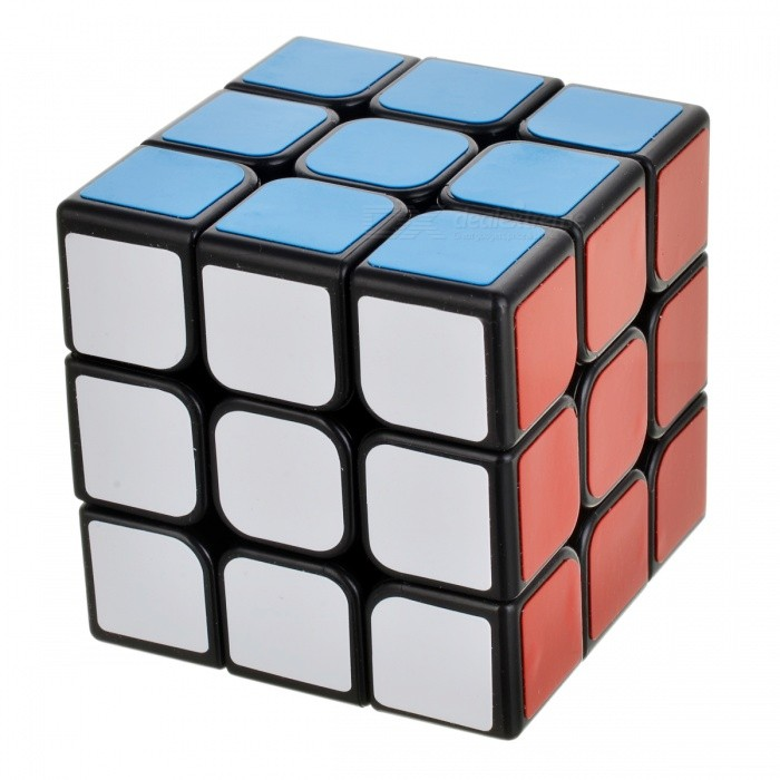 High-Quality Patented 3 * 3 * 3 Rubik's Cube - Black + Multi-Colored