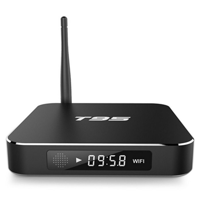 Ourspop T95 Amlogic S905 Quad Core Android TV Box - Black (US Plugs)