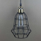 Holder YouOKLight YK2402 E27 Retro Fer Cage Chandelier Light - Noir
