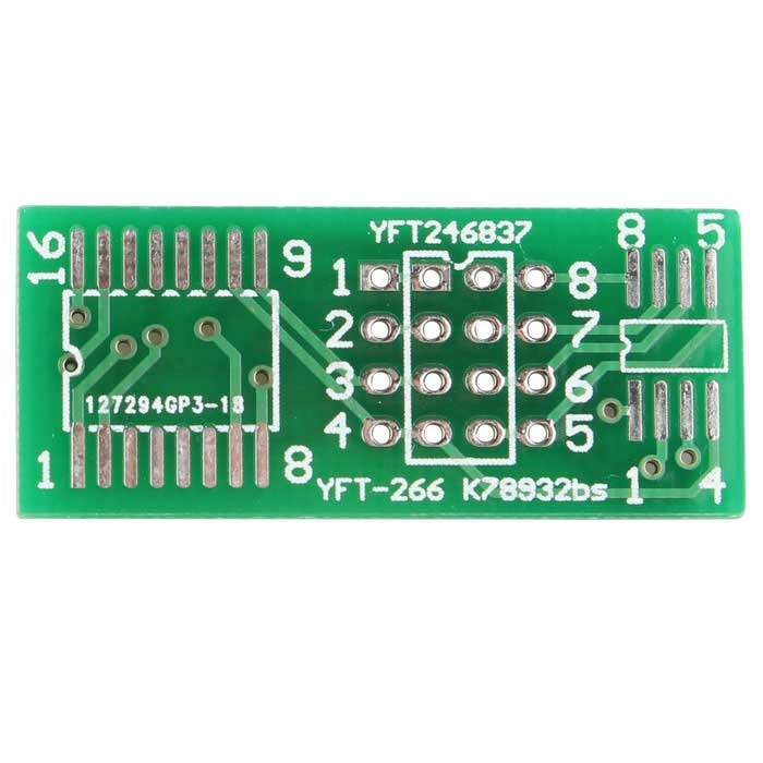 SOP8 SOP16 SMD to DIP DIP8 DIP16 SOIC8 SOIC16 IC Adapter Plate PCB