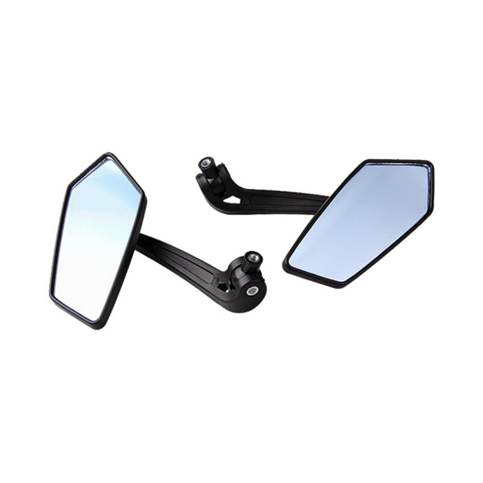 Motorcycle Motorbike Rear View Mirrors for Yamaha - Black (2 PCS)