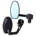 Aluminum Motorcycle Round Rear View Mirrors - Black (2 PCS)