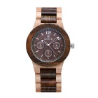 SKONE 391602 Men's Analog Quartz Wood Watch - Maple + Verawood(1*S377)