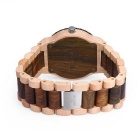 Skone 391602 Miesten Analoginen kvartsi Puu Watch - Maple + Verawood (1 * S377)