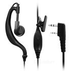 Tensile Resistance Ear-hook-øretelefon for intercom - svart
