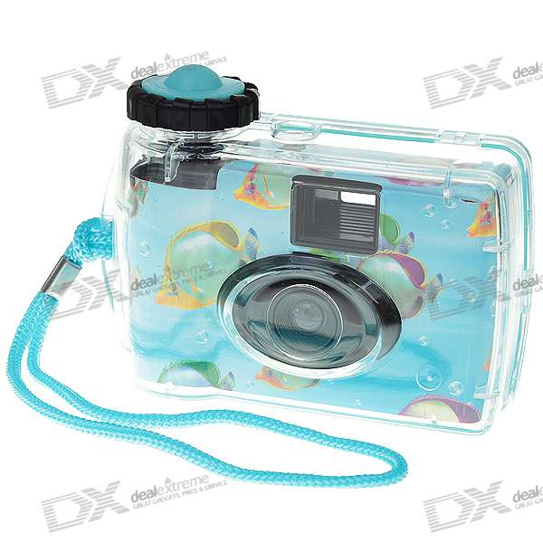 Disposable Waterproof Camera with Strap (Light Blue)