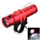 PINDO PD P-M8 Outdoor Mini Portable USB Flashlight Speaker FM - Red