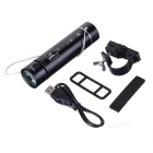 PINDO PD P-M8 Outdoor Mini Portable USB Flashlight Speaker FM - Black