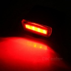 Bicycle Bike Tail / Head Warning Lamp Neutral White / Red Light -Black