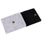 "Genuine Leather + Felt Liner Bag Case for Amazon Kindle 6"" - Black"