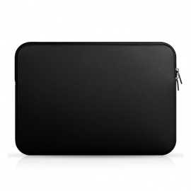 "Soft Pure Color Nylon Liner Bag for MACBOOK AIR / PRO 13.3 ""- Svart"