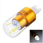 G9 3W 3-COB 300lm LED Bulb Lamp Cool White Light - Golden (AC 85~265V)