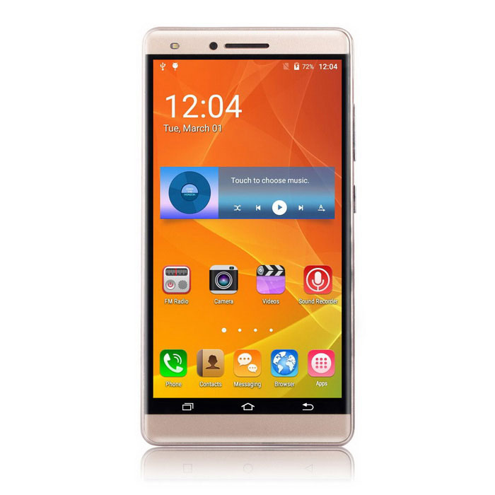 "UHAPPY V5 5.0"" 3G Phone w/ 1GB RAM, 8GB ROM - Gold (EU Plug)"
