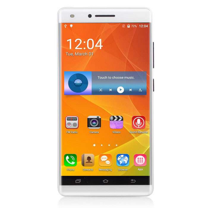 "UHAPPY V5 5.0"" 3G Phone w/ 1GB RAM, 8GB ROM - White (EU Plug)"