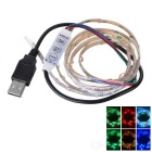 USB 3W Colorful RGB 80 LED Strip w/ 3-Key Controller (1m)