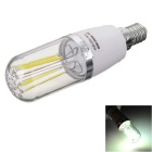 Marsing E14 4W 4-COB LED Cold White Light Filament Bulb (AC 85~265V)