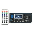 "002 9-12V 2 Junta de MP3 Pantalla Decoder ""w / FM / Bluetooth / USB"