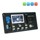 "002 9-12V 2 ""Display Decoder MP3 Placa w / FM / Bluetooth / USB"