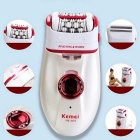 KEMEI KM-2668 Fashion 2 in 1 Razor & Body Hair Remover - White + Red