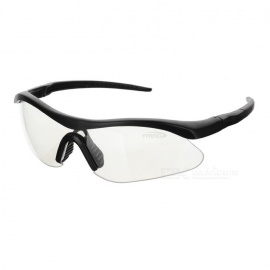 UV400 Protection ABS Frame PC Lens Goggles - Black + Transparent